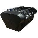 EXTREME MINI DUAL BEAM-83 DOPPIO BRAY-M 2 BARRE DA 4 LED MOVING BAR 8X3W RGBW MINI-SPIDER CONTROLLO
