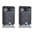 MPE DJ-15AL COPPIA CASSE ATTIVE AMPLIFICATE ACUSTICHE DJ KARAOKE PA 1950 WATT