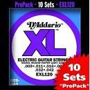 D'Addario EXL120 PRO PACK 10 SET COMPLETI