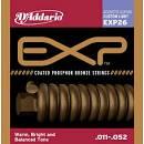 D'Addario per chitarra acustica Phosphor Bronze serie EXP26 misura 011/052