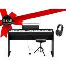 CASIO PX-S1000 BLACK IDEA REGALO - pianoforte digitale con mobile in legno, sgabello, cuffie, leggio