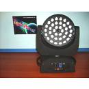 TESTA MOBILE A LED CON 36LEDX10W RGBW 4IN1 FULL COLOR+ZOOM LIGHTPLANET LP3610LED