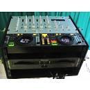 doppio lettore Pioneer Cmx 3000  Mixer stanton RM 100 case rack