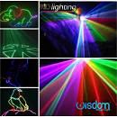 RAGGIO LASER 1000 mW RGB FIGURE GEOMETRICHE TUNNEL SAGOME BALLANTI MULTI EFFETTI