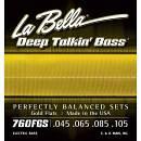LA BELLA 760FGS MUTA CORDE LISCE GOLD FLATS PER BASSO ELETTRICO 4 CORDE 45/105