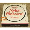 FENDER NYLON NORMAL TENSION 6 MUTE CORDE CHITARRA CLASSICA - SPEDIZIONE GRATUITA