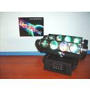 TESTA MOBILE BEAM SPIDER CON 8 LED DA 10 W RGBW LIGHTPLANET LP810SPIDER