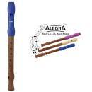 Hohner B95832 flauto dolce diteggiatura tedesca - colore testa blu