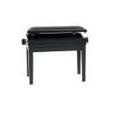 Panca sedia sgabello per pianoforte REGOLABILE e CON PORTALIBRI