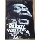 Manifesto originale Concerto di Muddy Waters dell' 8.6.1972 a Francoforte.