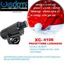proiettore led gobo logo 30w 90w faro pubblicitario o decoro addobbi natalizi