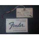 Fender Manuale Originale Fender Stratocaster  fine anni '70