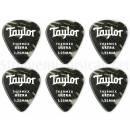 Taylor Premium Thermex 351 Guitar Picks Black Onyx 1.25mm (6-pack) - Kit 6 Plettri Black Onyx 1,25mm