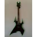 B.C.RICH - Beast Guitar Avenge Sob Black Binding Green Chitarra elettrica