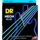 Dr strings NBB45 45/105 NEON HI-DEF BLUE SET DI CORDE