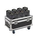 Soundsation Portrait-412 Set - Set Di 8 Par A Led 4x12w Rgbw 4in1 Con Batteria Al Litio E Flight Cas