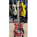 EVH Striped Series Frankie Red with Black Stripes Relic
