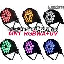 Par led 18X18W RGBWA UV 6in1 luce wood party Fluo POWERCON IN OUT