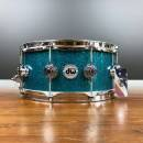 """DW COLLECTOR'S TEAL GLASS 14""""X6"""