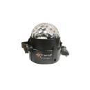 EXTREME CRYSTAL BALL 31 EFFETTO LUCE LED MAGIC MEZZA SFERA RGB 3x1W SFERA INDOOR + CONTROLLO SOUND