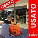 """USATO PEAVEY Grind 5 BXP Basso elettrico 5 corde """"rosso opaco"""" completo di borsa e tracolla"""