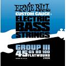 ERNIE BALL 2806 MUTA CORDE PER BASSO 4 CORDE FLATWOUND 45/100 LISCIE