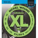 D'ADDARIO EXL165 5 MUTA CORDE PER BASSO 5 CORDE 45/135 NICKEL WOUND LONG SCALE REG LIGHT TOP/MED BOT
