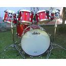 "LUDWIG Classic Maple Custom ""Orange Glass Glitter""; 24"", 10"", 12"", 13"". 14"", 16"""