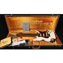 Fender Custom Shop Stratocaster 1962 HSS Heavy Relic Olympic White Over Sunburst 2015 Used Mint Cond