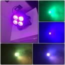par led COB 4x20W 65° led domino strobo luminosi fascio di luce molto largo RGB