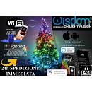 WISDOM LUCI DI NATALE SMART WIFI CATENA LUMINOSA ALBERO LED DOMOTICA