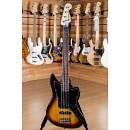 Squier (by Fender) Vintage Modified Jaguar Bass V Rosewood Fingerboard 3 Color Sunburst