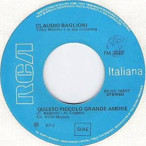 Claudio baglioni questo piccolo grande amore 45 giri for Porta 45 giri