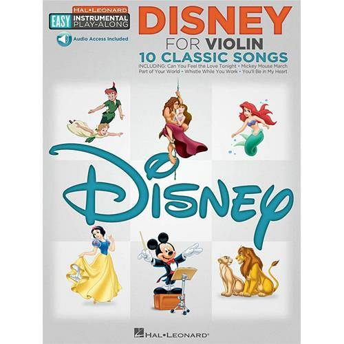 AA  VV : DISNEY FOR VIOLIN 10 CLASSIC SONGS - VIOLIN PLAY-ALONG CON