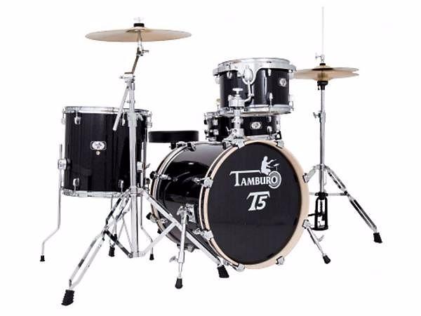 Tamburo t5j18bssk batteria jazz con hardwere e piatti sgabello
