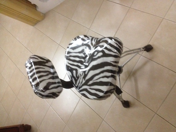 Sgabello pneumatico a gas zebra edition throne #4793154 su