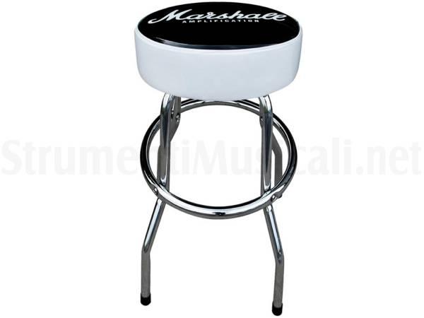 Marshall guitar stool 60cm sgabello in alluminio con logo marshall