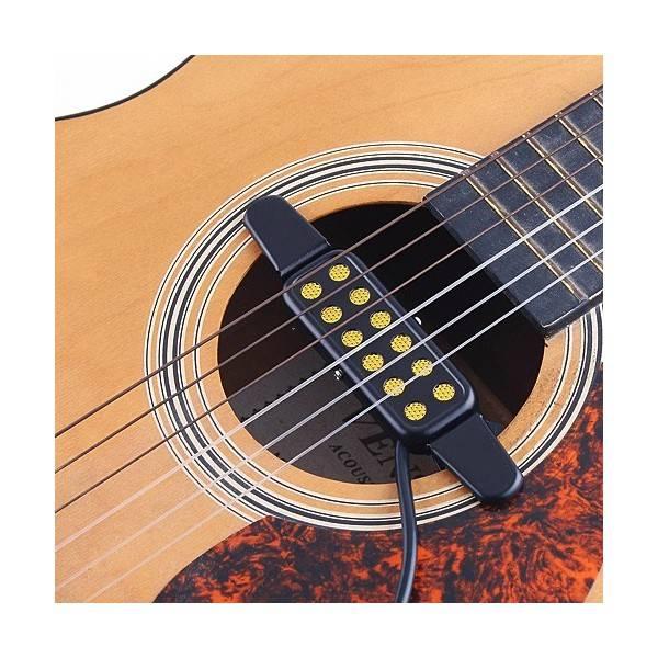Pickup per chitarra acustica design a doppia bobina senza foro per accessori per strumenti musicali in legno di mogano per chitarra acustica da 39//40//41 pollici
