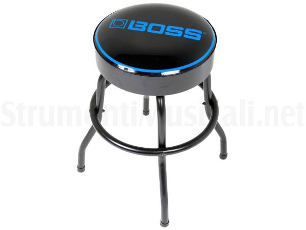 Boss bbs sgabello con logo boss blu cm su