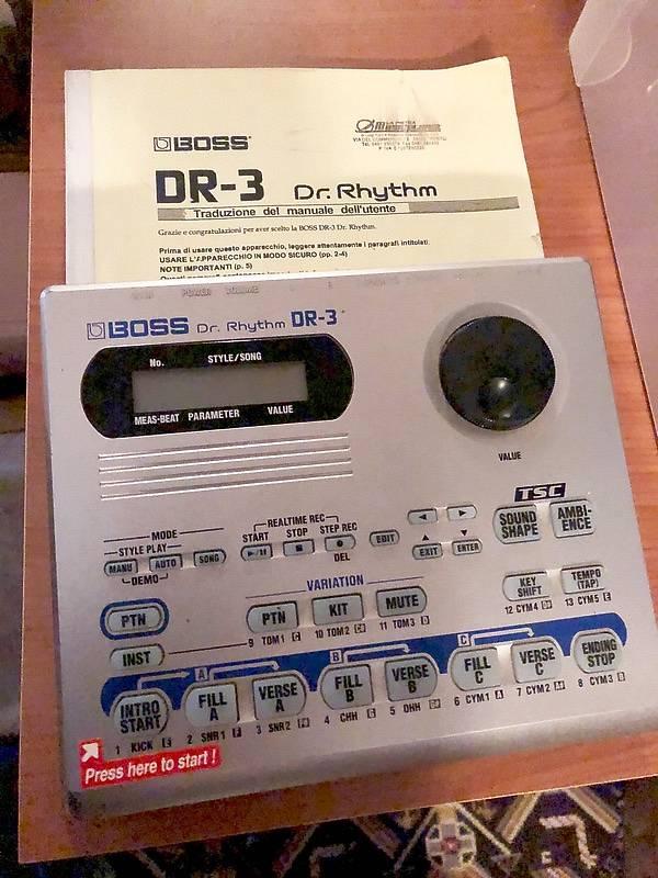 Boss dr-3 rhythm dr. Rhythm dr-3 manuale italiano originale.