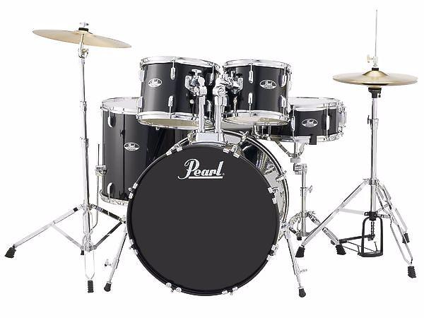 Pearl roadshow rs525sc c batteria acustica jet black con piatti e